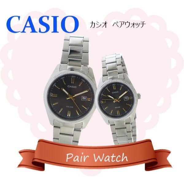 【ペアウォッチ】 カシオ CASIO チープカシオ ユニセックス 腕時計 MTP-1302D-1A2 LTP-1302D-1A2