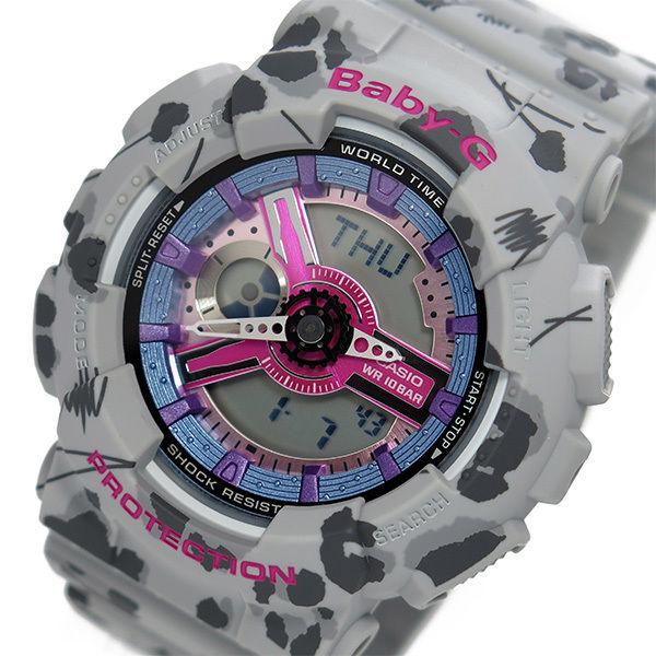 カシオ ベビーG フラワーレオパードシリーズ レディース 腕時計 BA-110FL-8A