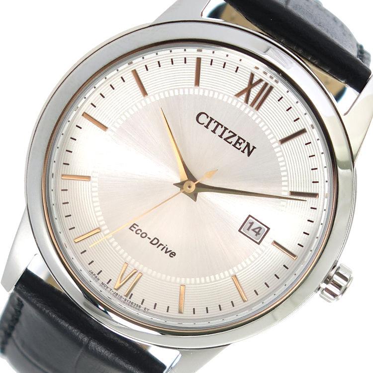 シチズン CITIZEN エコ・ドライブ クオーツ メンズ 腕時計 AW1236-11A シルバー