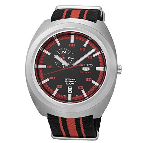 セイコー SEIKO セイコー5 SEIKO 5 スポーツ 自動巻き メンズ 腕時計 SSA287J1 ブラック/レッド