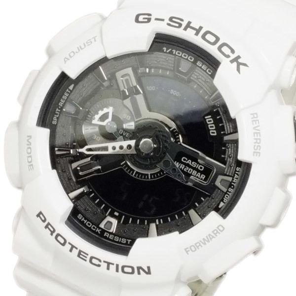 カシオ CASIO Gショック ホワイト&ブラック アナデジ メンズ 腕時計 GA-110GW-7