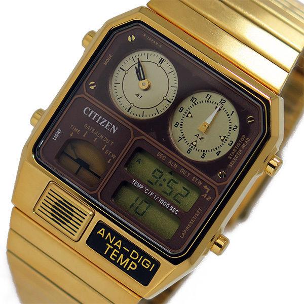 シチズン CITIZEN アナデジテンプ クオーツ メンズ 腕時計 JG2002-53W ブラウン