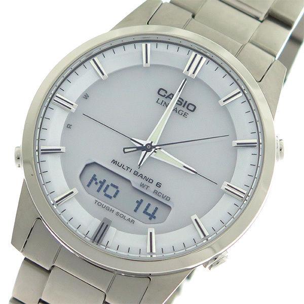 カシオ CASIO リニエージ LINEAGE タフソーラー クオーツ メンズ 腕時計 LCW-M170TD-7A ホワイト/シルバー