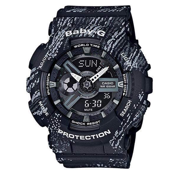 カシオ CASIO ベビーG Baby-G ミストテクスチャー アナデジ クオーツ レディース クロノ 腕時計 BA-110TX-1A ブラック