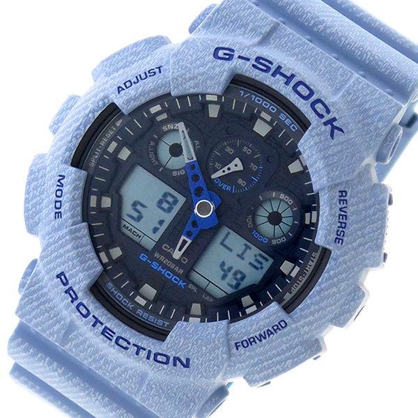 カシオ CASIO Gショック G-SHOCK クオーツ メンズ 腕時計 GA-100DE-2A ネイビー