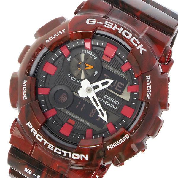 カシオ CASIO Gショック G-SHOCK Gライド G-LIDE メンズ 腕時計 GAX-100MB-4A ブラック レッドマーブル