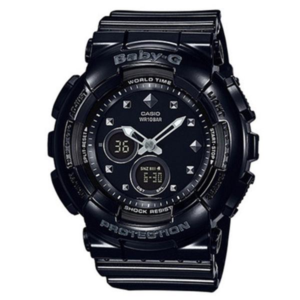 カシオ CASIO ベビーG BABY-G スタッズモチーフ クオーツ レディース 腕時計 BA-125-1A ブラック