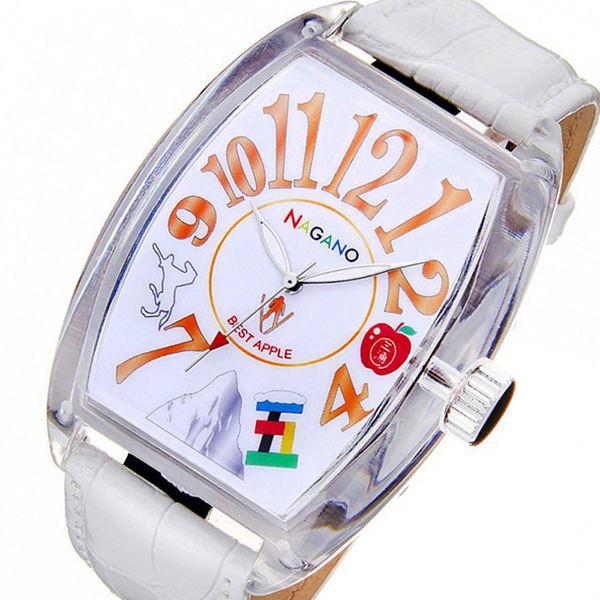 フランク三浦 ご当地三浦 長野県 リンゴと白馬の王子様モデル メンズ 腕時計 FM04NK-NGNWH