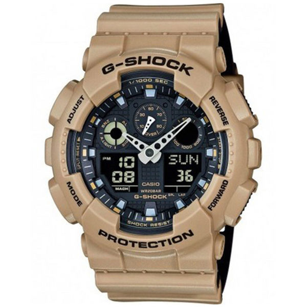 カシオ CASIO Gショック G-SHOCK ミリタリーテイスト メンズ 腕時計 GA-100L-8A ブラック/ベージュ