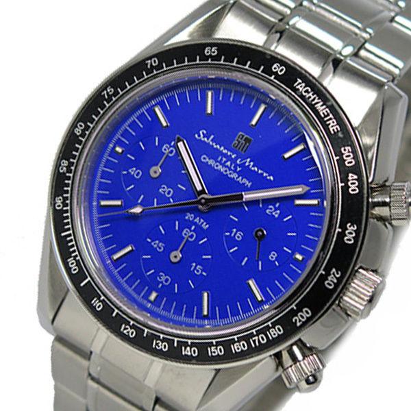 サルバトーレ マーラ クロノ クオーツ メンズ 腕時計 SM15111-SSBL ブルー
