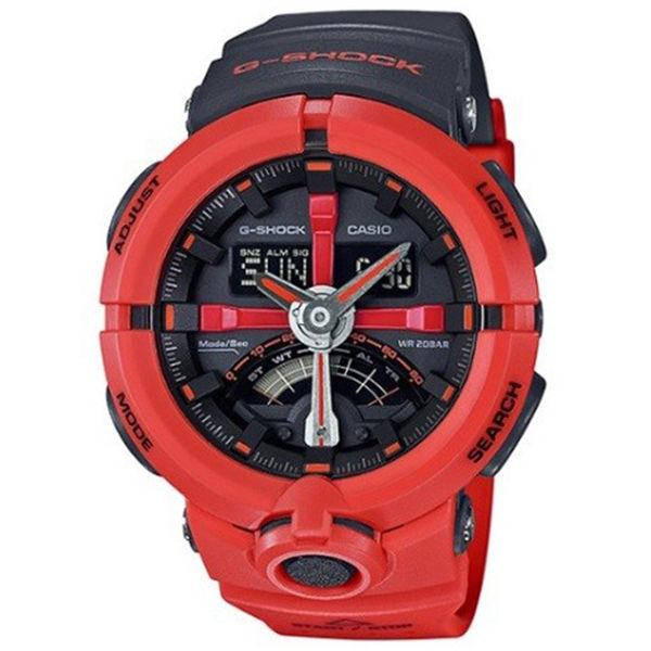 カシオ CASIO Gショック G-SHOCK パンチングパターンシリーズ メンズ 腕時計 GA-500P-4A ブラック/オレンジ