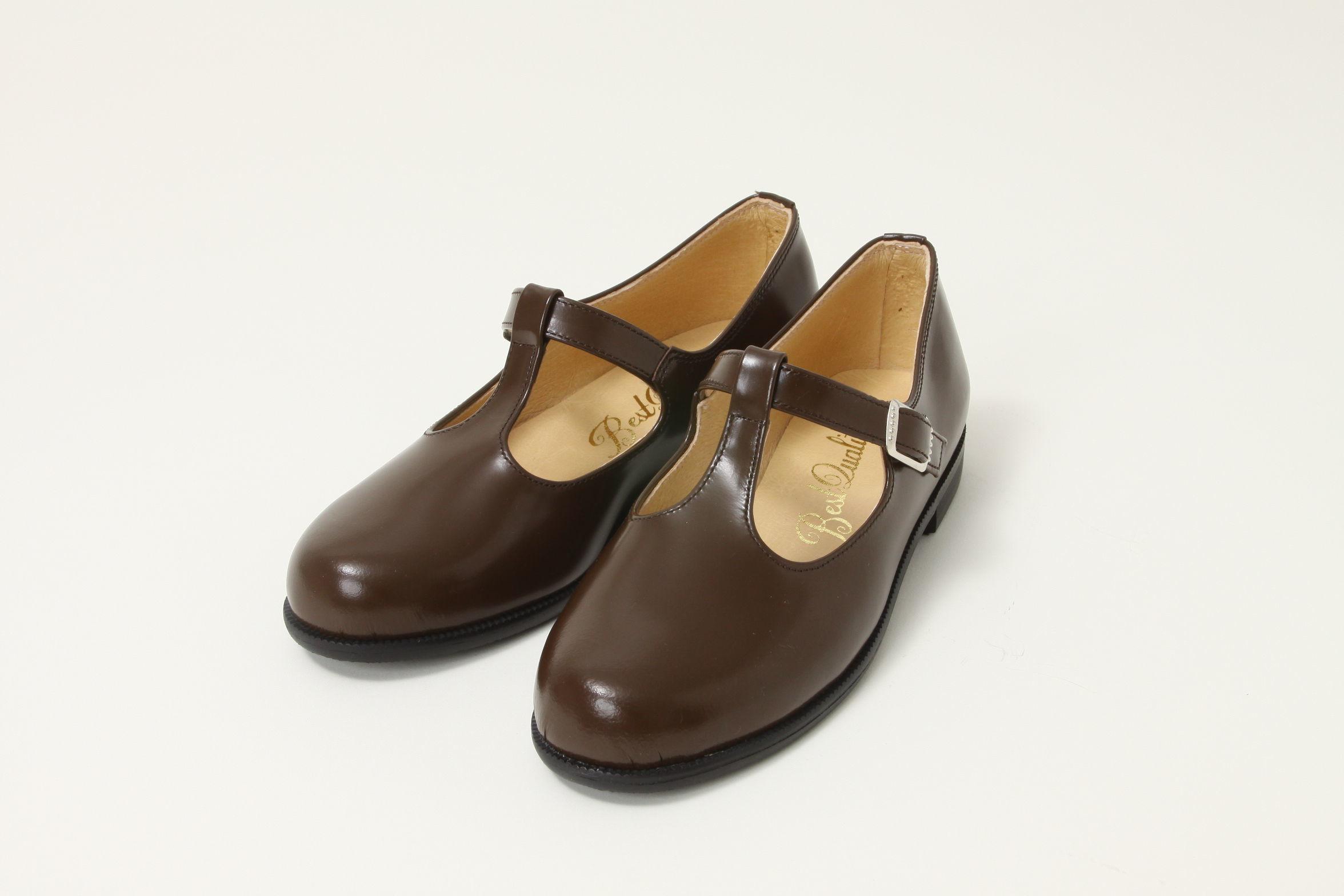 子供靴(丁字・茶)