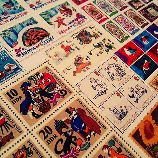 世界の切手フレークシール60枚セット