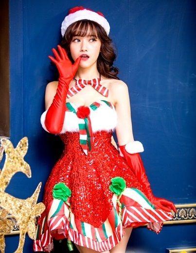 ハロウィン衣装☆ クリスマス服 ☆サンタ衣装 女の子 コスチューム/コスプレ 演出服 仮装 宴会芸