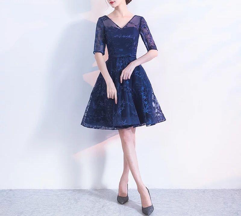 ドレス 星柄 シースルー 結婚式 パーティー チュールワンピース