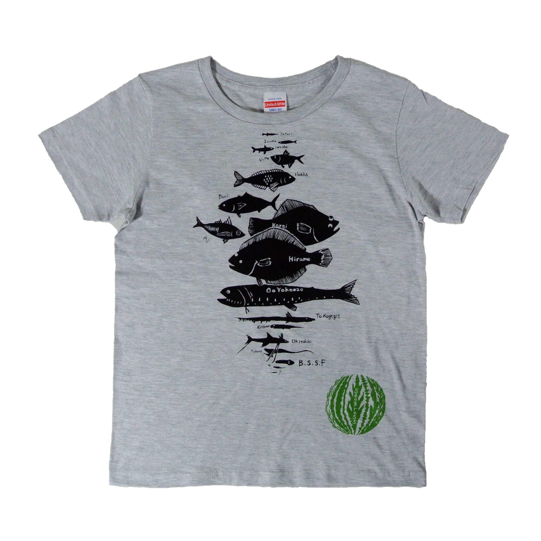 水深別お魚Tシャツ レディース