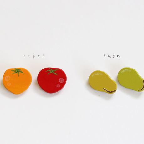新鮮なお野菜ブローチ