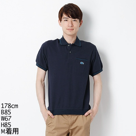 LACOSTE: 【SHIPS別注】 70's ポケット ネイビー ポロシャツ