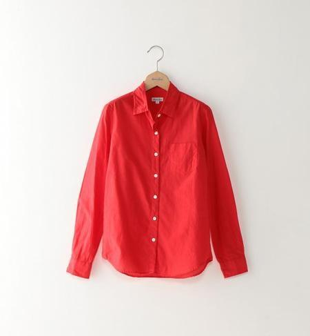 <Steven Alan>COTTON SILK REVERSE SEAM SHIRT/シャツ