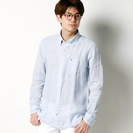 CHAMBRAY LINEN CUSTOM FIT1