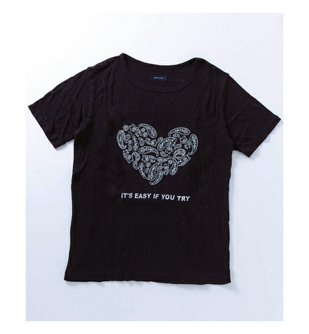 【WEB限定】シルク100%Tシャツ「IT'S EASY IF YOU TRY」