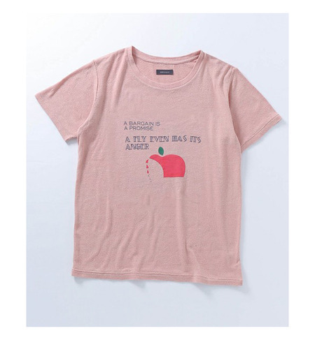 【WEB限定】シルク100%Tシャツ「A FLY EVEN HAS ITS ANGER」