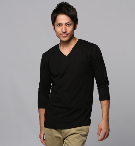 inner light v neck 3/4 pocket ...