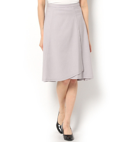 WRAPAROUND CUT SKIRT