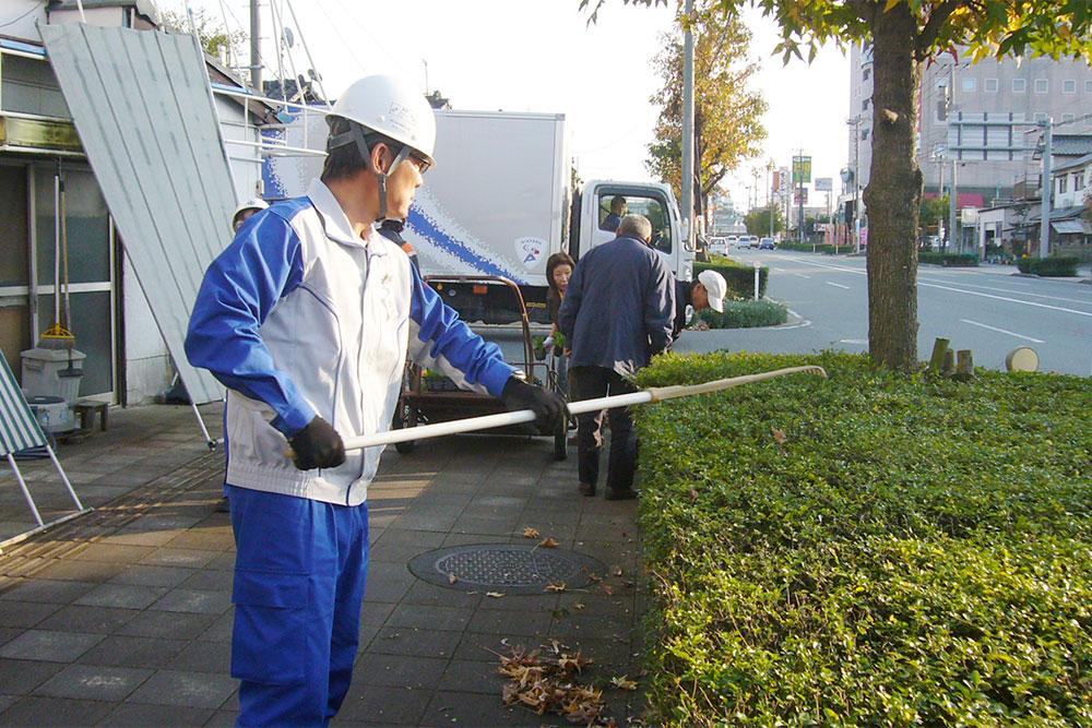 近隣地域との清掃活動