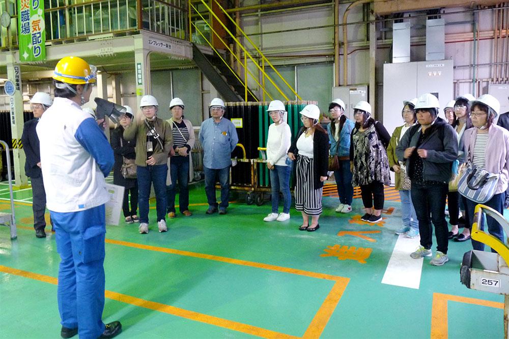 県内工業高校PTA工場見学