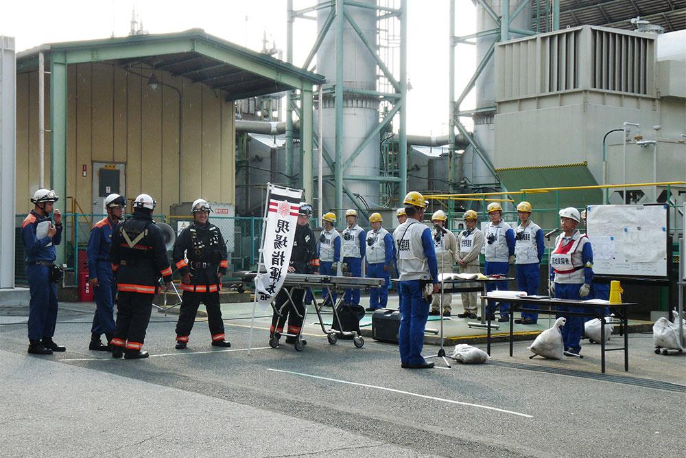 工場総合防災訓練