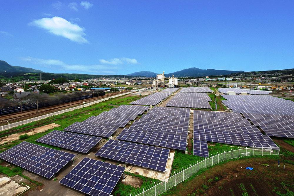 八木原地区の太陽光発電設備