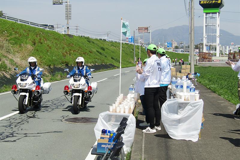 渋川シティマラソンボランティア活動