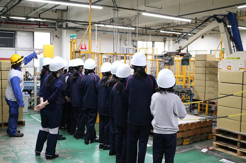 鎌倉女学院工場見学会