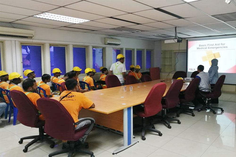 安全教育と救急処置訓練