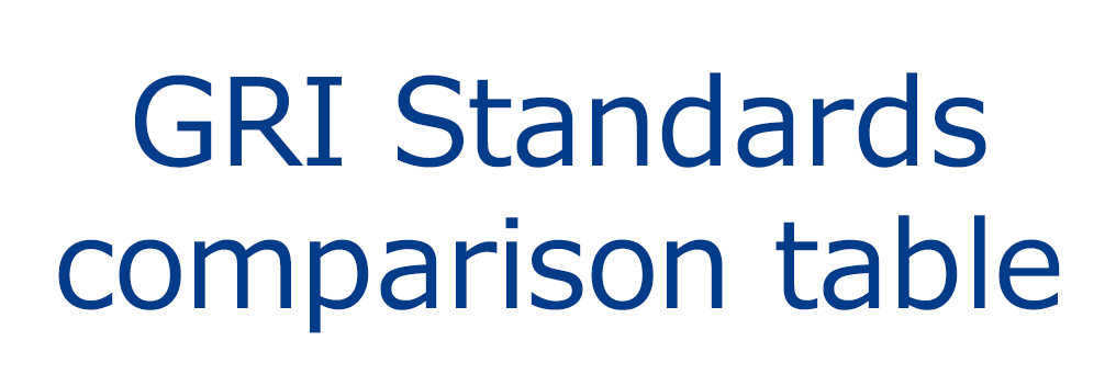 GRI Standards comparison table