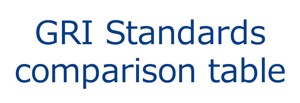 GRI Standards comparison table