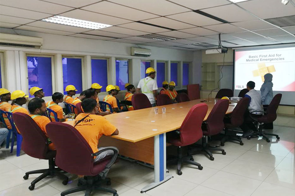 Safety education and emergency treatment training