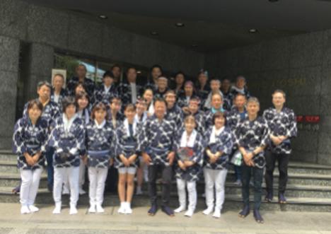 三越日本橋本店に勤務するメンバーなど総勢60名が参加しました