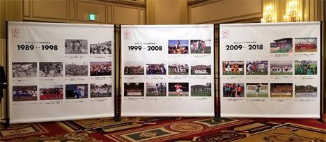 会場内にはなでしこリーグ30年のあゆみがパネルで紹介されました