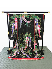 黒地藤刺繍着付歌舞伎衣裳「藤姫」