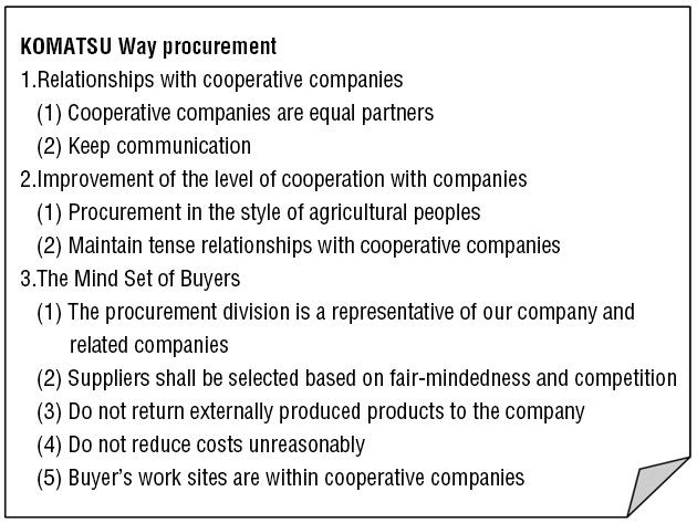 KOMATSU Way procurement