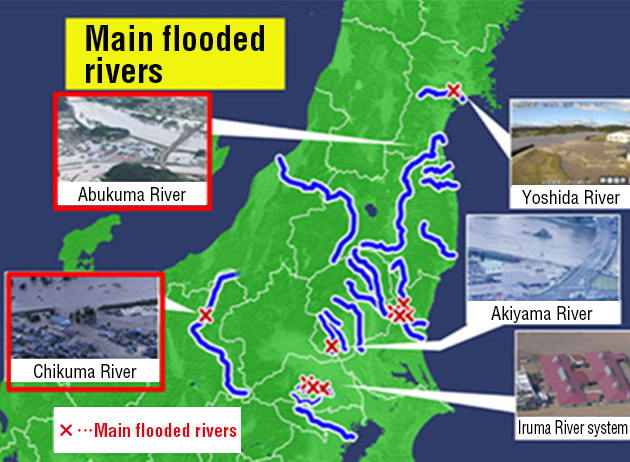 River flooding caused by Typhoon No. 19