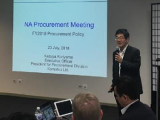Lecture by President of Procurement Division of Midori-kai in North America
