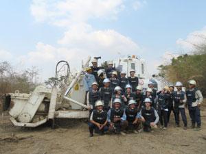 Demining site visit