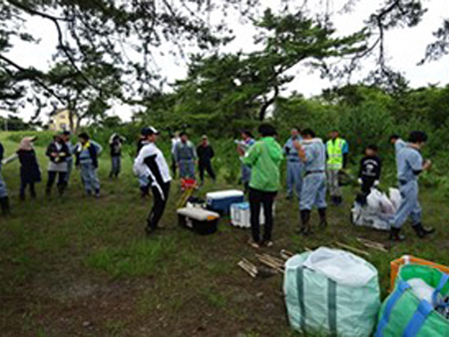 Oyama site: Tide prevention forest restoration volunteer project in Iwaki