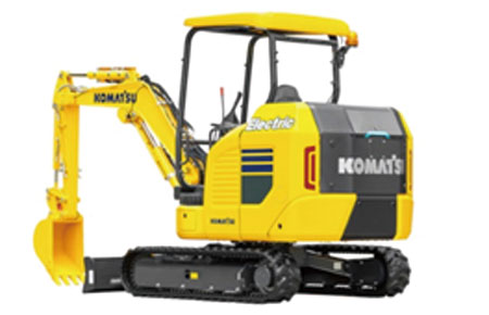 Battery-powered mini-excavator exhibited at bauma 2019