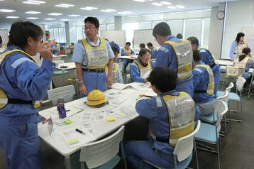 沼津事業所でのBCP訓練の様子