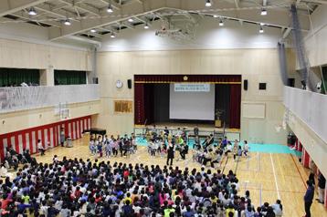 芳水小学校で開催されたN響コンサートを後援