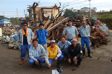Supporting Volunteers to Typhoon and Tornados Suffered Area